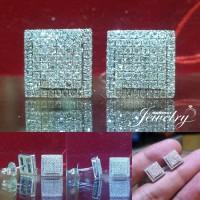 Giwang/Anting/Earing BERLIAN EROPA Natural Diamond Ring Emas Putih 40%