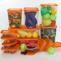harga IKEA PRUTA Food container Set Isi 17 Pcs Transparan Warna Orange Tokopedia.com