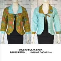 harga Bolero Bolak Balik Motif Songket | Blazer Outter | Baju Batik Murah Tokopedia.com