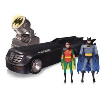 DC Batman Animated Series : Deluxe Batmobile With Figures & Batsignal