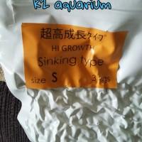 pakan pelet koi mizuho sinking hi growth 3kg S (small) 500gr repacking