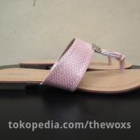 Sandal Flat Wanita Original Bata Ladies Ulf Beige Ukuran Nomor 36