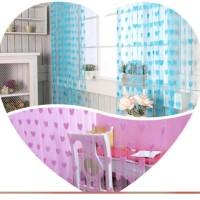 Tirai Benang Motif Love Korean Style Gorden Dekorasi Interior Rumah