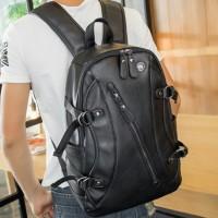 Tas kulit ransel kerja kuliah sekolah pria tas punggung backpack macho