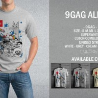 Kaos 9gag All 02 T-Shirt Raglan Distro Meme Comic