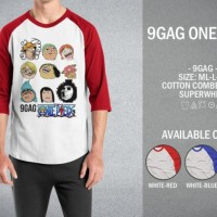 Kaos 9gag One Piece T-Shirt Raglan Distro Meme Comic
