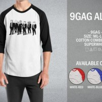 Kaos 9gag All 04 T-Shirt Raglan Distro Meme Comic