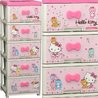 harga Lemari Plastik Laci 5 Susun Hello Kitty Motif Pink Tokopedia.com