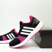 Sepatu sport wanita runing gym fitness senam full color adidas boost