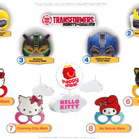 McDonald's HAPPY MEAL TOYS Transformers Hello Kitty Mask