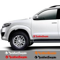 Sticker Mobil Rockford Fosgate Stiker Cutting Depan / Belakang
