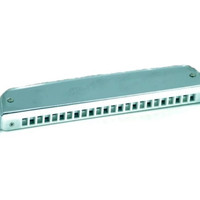 OEM Tower Chromatic Harmonica 24 Holes - Silver