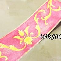 WBS005-PINK N YELLOW VECTOR 10,5CM-WALL BORDER STICKER 10MX10.5CM