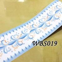 WBS019-WHITE BLUE VECTOR 10 CM-WALL BORDER STICKER 10MX10CM