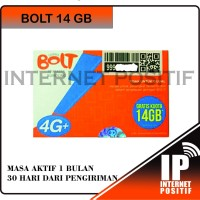 Perdana Bolt 14 GB 1 Tahun - Bolt Super 4G LTE 14gb Aktif!! - Murah !!