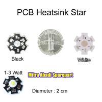 PCB Heatsink Star 1-3W Aluminium