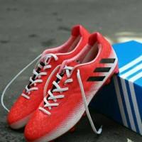 Sepatu Bola Adidas Messi.16 Merah-Putih list Hitam Grade Ori
