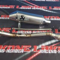 harga Knalpot Akrapovic Titan Mesin Tiger MegaPro Scorpio Crf230 Model Trail Tokopedia.com