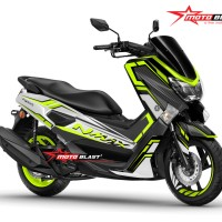 Decal stiker Yamaha NMAX Black white carbon green lime
