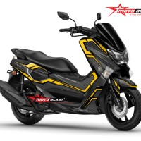 Decal stiker Yamaha NMAX Black Carbon Yellow