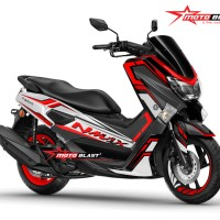 Decal stiker Yamaha NMAX black white carbon red