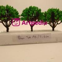 MAKET Pohon / Diorama Pohon / Miniatur Pohon 6 cm / Tree Type AB-6cm