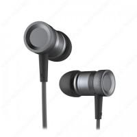 ROCK Mula Stereo Earphone / Headset Aluminum + Mic - Hitam
