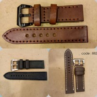 Jual tali kulit jam | leather strap 20mm 22mm 24mm Murah