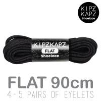 KipzKapz Shoelace - Tali Sepatu Pipih / Flat 8mm - Black 90cm