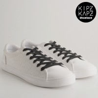 KipzKapz Shoelace - Tali Sepatu Pipih / Flat 8mm - Black 115cm