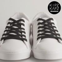 KipzKapz Shoelace - Tali Sepatu Pipih / Flat 8mm - Black 140cm