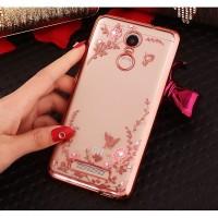 Jual Casing Silicon Redmi Note 3 & Redmi Pro Soft Case Flower Bling Diamond Murah