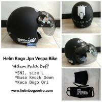 Helm Bogo Retro JPN Motif Vespa Free Masker