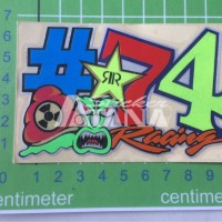 Sticker Cutting Scotlite #74 Racing RR Rockstar