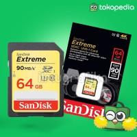 SDHC / SDXC Sandisk Extreme 64GB 90mbps U3 Memory Kamera / Camcorder