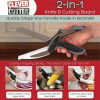 clever cutter 2in1/ gunting talenan pisau talenan as seen on tv