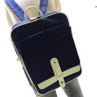 Tas ransel pria kanvas impor / punggung laptop kulit murah bodypack