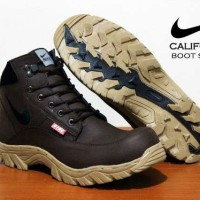 Sepatu Boot Safety Nike California Coklat
