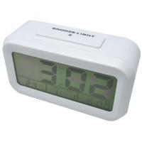 Digital Liquid Crystal Desktop Smart Clock Warna Putih