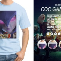 Kaos COC Game 03 Witch T-Shirt Games Raglan Clash Of Clans