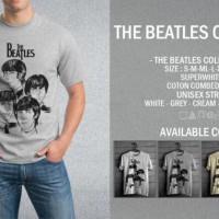 Kaos The Beatles Cartoon T-Shirt Raglan Music Band Legend