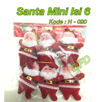 Jual Aksesoris Natal / Ornamen Natal / ( Santa Mini Isi 6 / Sinterklas ) Murah
