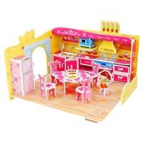 harga Puzzle 3D Bahan EPS Foam Bangunan Dapur Pink DIY Prakarya Anak DF003 Tokopedia.com