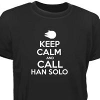 Kaos Anime keep calm and call han solo -Quality Distro
