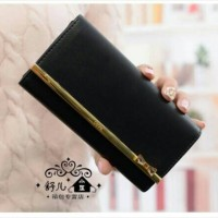 Jual Kqueenstar Wallet dompet import wanita korea murah bagus list emas Murah