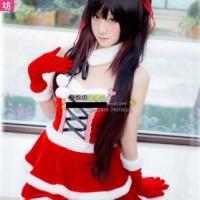 Costume Kurumi Tokisaki Date a Live Christmas ver. Cosplay JK Dress