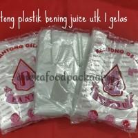 Kantong plastik/kresek pop ice/juice 1 cup