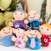 6 boneka jari seri keluarga - family finger puppets mainan