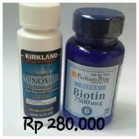 Liquid Minoxidil 5%, & Biotin ,Penumbuh Rambut Pria, Brewok,Original