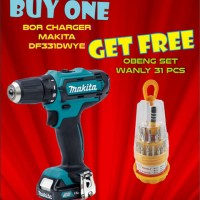 MAKITA DF331DWYE / DF 331 DWYE Mesin Bor Obeng / Cordless Driver Drill